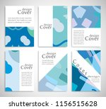 set of a4 cover  abstract... | Shutterstock .eps vector #1156515628