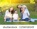 asian family enjoyed outdoor...   Shutterstock . vector #1156518145