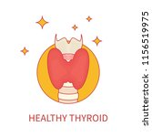 healthy thyroid gland front... | Shutterstock .eps vector #1156519975