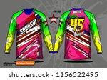 long sleeve motocross jerseys t ... | Shutterstock .eps vector #1156522495