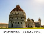 view of the pisa cathedral and... | Shutterstock . vector #1156524448