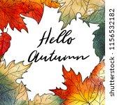 autumn background. hand drawn... | Shutterstock . vector #1156532182