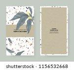 foliage invitation card...   Shutterstock .eps vector #1156532668