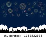fireworks and forest | Shutterstock .eps vector #1156532995