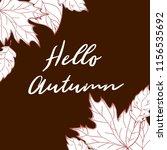 autumn background. hand drawn... | Shutterstock . vector #1156535692