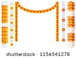 indian orange flower garland... | Shutterstock . vector #1156541278