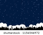 stary night and forest | Shutterstock .eps vector #1156546972