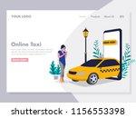 ordering online taxi... | Shutterstock .eps vector #1156553398