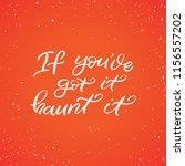 hand drawn lettering haloween...   Shutterstock .eps vector #1156557202