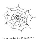 spider web vector illustration | Shutterstock .eps vector #115655818