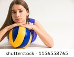 female professional volleyball... | Shutterstock . vector #1156558765