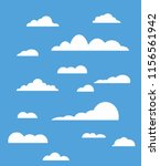 blue sky  clouds in flat style. ... | Shutterstock .eps vector #1156561942
