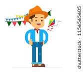 man character avatar icon.festa ... | Shutterstock .eps vector #1156565605