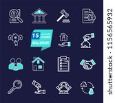 real estate thin line icons.... | Shutterstock .eps vector #1156565932