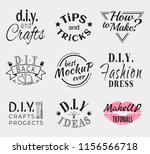 retro vintage insignias or... | Shutterstock .eps vector #1156566718