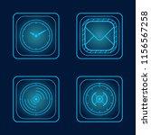 hologram technology blue set of ...