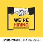 we are hiring yellow background ... | Shutterstock .eps vector #1156570018