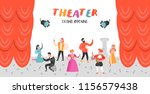 theater actor characters set.... | Shutterstock .eps vector #1156579438
