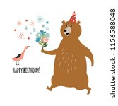 birthday card design  greeting ... | Shutterstock .eps vector #1156588048