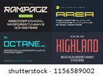 set of display fonts  typefaces ... | Shutterstock .eps vector #1156589002