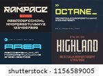 set of display fonts  typefaces ... | Shutterstock .eps vector #1156589005