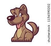 brown dog design vector | Shutterstock .eps vector #1156590202