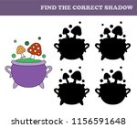 find the correct shadow.... | Shutterstock .eps vector #1156591648
