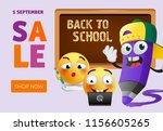 back to school sale leaflet... | Shutterstock .eps vector #1156605265