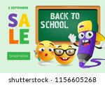 back to school  shop now banner ... | Shutterstock .eps vector #1156605268