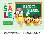 back to school sale banner... | Shutterstock .eps vector #1156605325