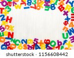 colorful plastic numbers and... | Shutterstock . vector #1156608442