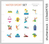 Water Sport Icon Set....
