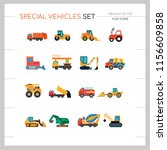 special vehicles icon set. skid ... | Shutterstock .eps vector #1156609858