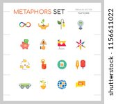 metaphors vector icon set.... | Shutterstock .eps vector #1156611022