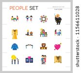 people icon set. family showing ... | Shutterstock .eps vector #1156611028