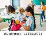 group of schoolchildren... | Shutterstock . vector #1156615735