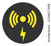 wireless charger sign. vector... | Shutterstock .eps vector #1156617448