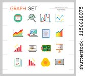 graph icon set. magnifier and... | Shutterstock .eps vector #1156618075