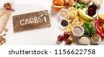 foods high in carbohydrates.... | Shutterstock . vector #1156622758