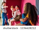 schoolgirls bullying on their... | Shutterstock . vector #1156628212