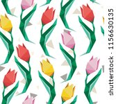 low poly tulip pattern.... | Shutterstock . vector #1156630135