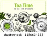 tea ceremony vector... | Shutterstock .eps vector #1156634335