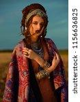 beautiful fashion model posing...   Shutterstock . vector #1156636825