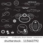 calligraphic design elements... | Shutterstock .eps vector #115663792