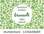 vector illustration of broccoli ... | Shutterstock .eps vector #1156638685