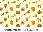 halloween seamless pattern | Shutterstock .eps vector #115663876