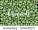 vector illustration of broccoli ... | Shutterstock .eps vector #1156639972