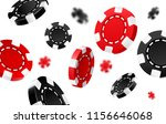 flying red and black casino... | Shutterstock .eps vector #1156646068