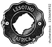 lesotho map vintage black stamp.... | Shutterstock .eps vector #1156646932