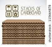 illustration of stacks of... | Shutterstock .eps vector #115664878
